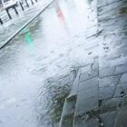 Rijden op een overstroomde weg (wateroverlast)