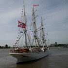 De Statsraad Lehmkuhl, een spierwit Noors schoolschip