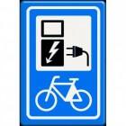 Accu elektrische fiets onderweg opladen