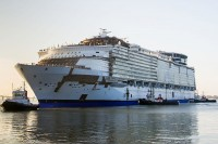 Bron: Commons.wikimedia.org/wiki/File:Harmony_of_the_Seas_Saint-Nazaire_June_2015. Djoach